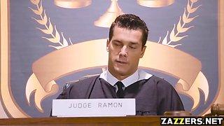 Judge Ramon is willing to give Kristina his judicial jizz