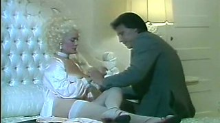 Lean mature blonde lady boned hard from behind in the bathroom