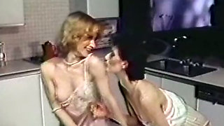 Two white classic lean bitches in softcore action on the couch