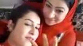 Arab Lesbians Making out and Smoking