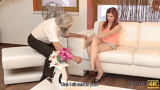 DADDY4K. Guy and his old daddy team up to punish slutty...
