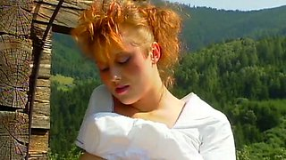 Sweet and naughty German redhead babe with big breasts