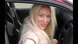 Lisa makes a welcome return for some outdoor car action in pantyhose