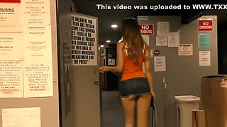 Gloryhole slut has anal