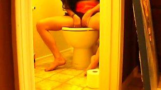 Tampon Change on Toilet