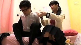 Japanese AV chick in school uniform hardcore orgy