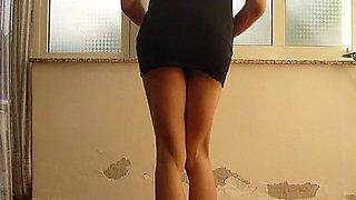 jessykyna black dress whipping - teen transvestite