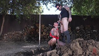Bombshell inked MILF Lily Lane anal and pussy abused in bondage