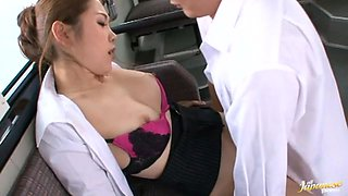 Crazy gangbang fucking on a bus Asami Ogawa