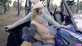 Down to fuck girlfriend Anya Olsen gets her pussy fucked outdoor