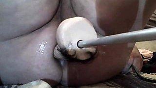 BBW self filming with fucking machine III