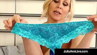 busty cougar julia ann in bras panties & stockings for you!