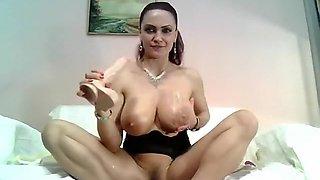 Horny Milf With Big Fake Milk Boobs Part 03