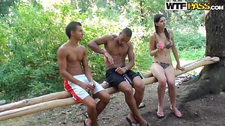 Hot college fucking in the woods