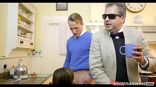 french whore wife ava courcelles cheats in front of her blind husband