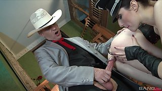 Slave Mistress yelling while her anal is pounded hardcore