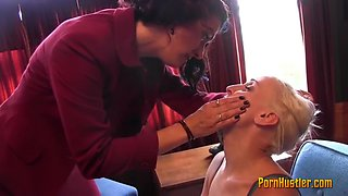 blonde gets dominated by her mistress