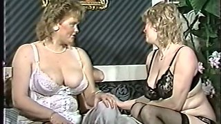 Two mature white BBW ladies are going to share one man
