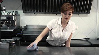 CHICAS LOCA - Steak and Blowjob Day kitchen celebration