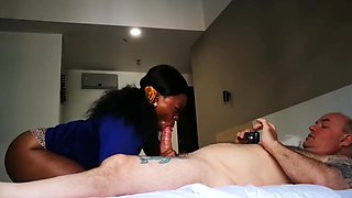 AFRICAN HOTEL MASSAGE LOTS OF SLOPPY GAGGING AND CUM EATING