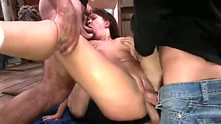 Brutal BDSM Double Penetration Gangbang! vol.58