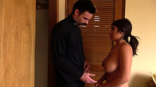 TOUGHLOVEX Father Karl demolishes Ella Knox's holes