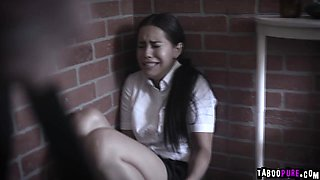Crying schoolgirl begs school counselor to fuck her hard!
