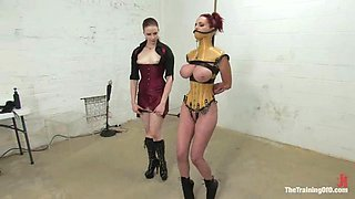 Busty redhead siren Mz Berlin is being suspended