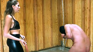 Hot mistress domination and cumshot