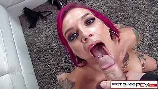 Anna Bell Peaks is drilled by a huge cock in POV style