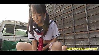 Jav Idol Abe Mikako Fucks On The Back Of Mini Van Truck Outdoors Wearing School Uniform Excellent Scene