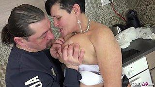 German milf seduce to fuck by best friend of her son