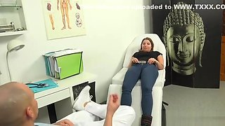 HORNY DOCTOR GIVES CZECH BABE WET PANTIES