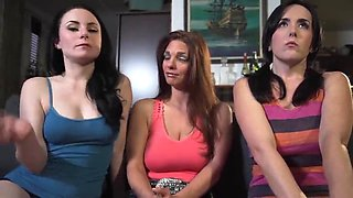 sisters and mom catch joi with a little sph