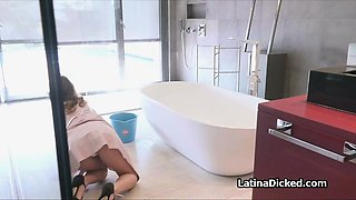 Cheating with kinky Latina maid