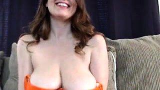 Housewife big boobs masturbation huge cock