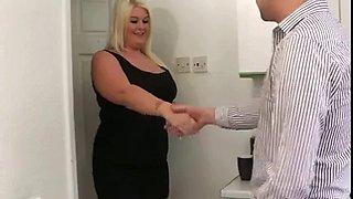 Sexy BBW Blonde Fucked