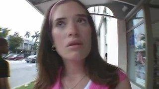 harlot reveals camel toe blowjob film 1