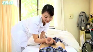 Asian Nurse in Uniform is A Blowjob Expert