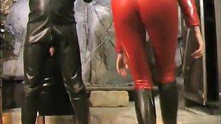 Crazy amateur Threesomes, Slave porn video