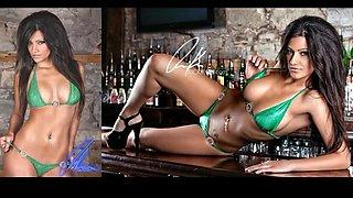 Michelle kassandra cock hardening tiny green bikini
