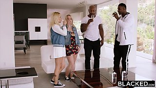 BLACKED Two Curvy College Students Crave BBC