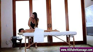 Lez babes enjoy a massage seduction video