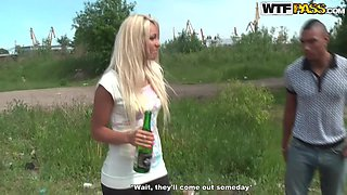 Hot Outdoor Foursome With A Duo of Horny Blonde Teens