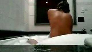 Seductive amateur girl rides hard dick in the bathroom