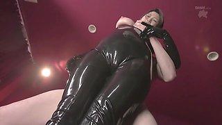 Exotic Japanese whore in Hottest Latex, Fetish JAV video