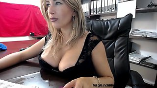 secretary squirting in the office..... film