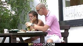 Horny GF seduces her BF\'s father
