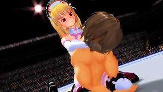 hentai mixed wrestling kiss attack