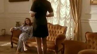 Lila Baumann ask her maid Natasha Brikk for lesbian sex